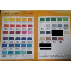 Set Stickers 6x6 Colores Lisos