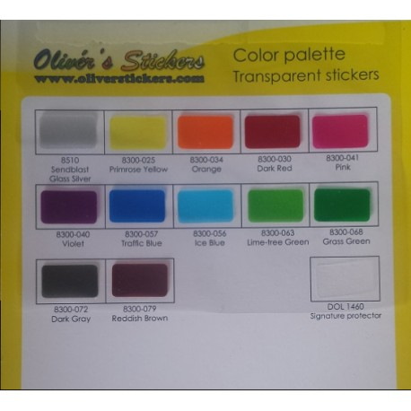 Set Stickers 7x7 Transparentes