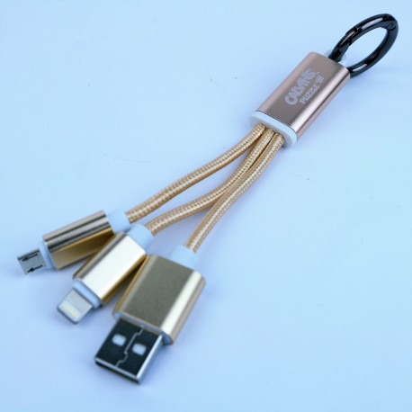 Cable USB 2en1 Carga y Datos para Android y Apple