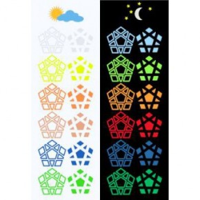 Glow in the Dark 12-color Megaminx Limitado